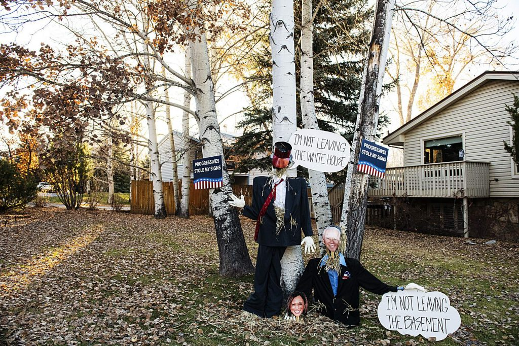 An intricate pro-Trump display in Aspen on Election Day, Tuesday, Nov. 3, 2020. (Kelsey Brunner/The Aspen Times)