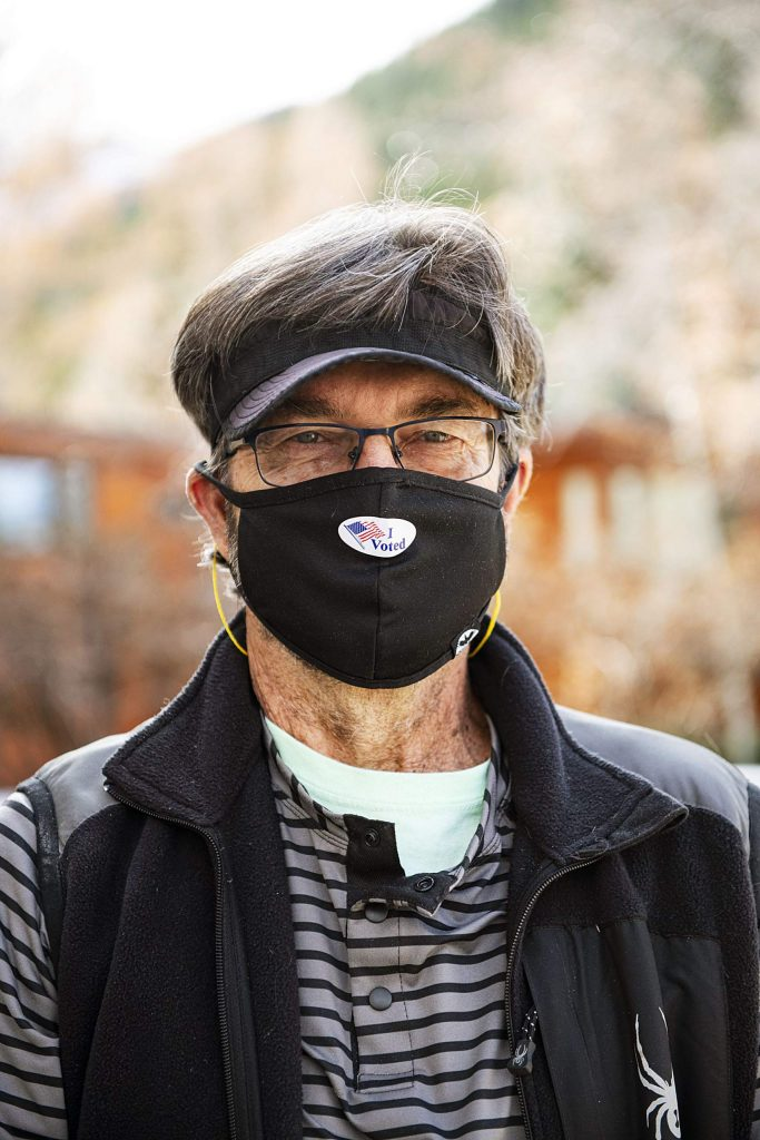 John Mitchell after voting on Election Day in Aspen on Tuesday, Nov. 3, 2020. (Kelsey Brunner/The Aspen Times)