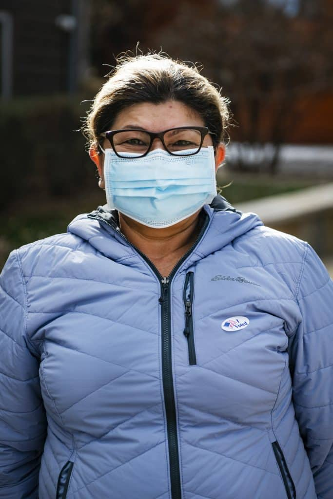 Celina Martinez after voting on Election Day in Aspen on Tuesday, Nov. 3, 2020.