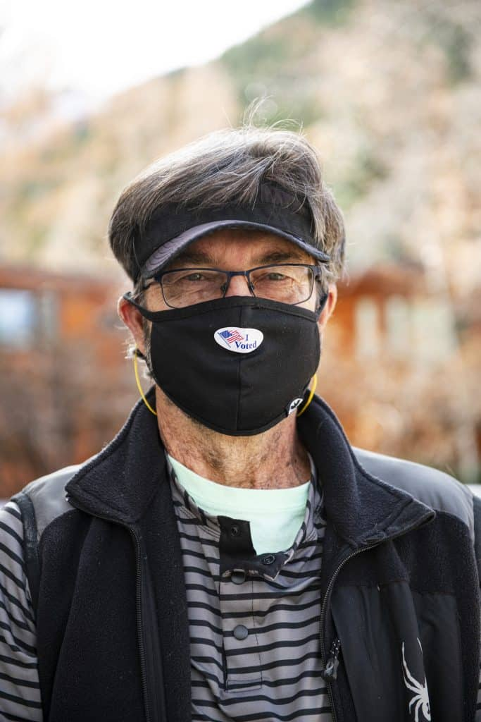 John Mitchell after voting on Election Day in Aspen on Tuesday, Nov. 3, 2020.