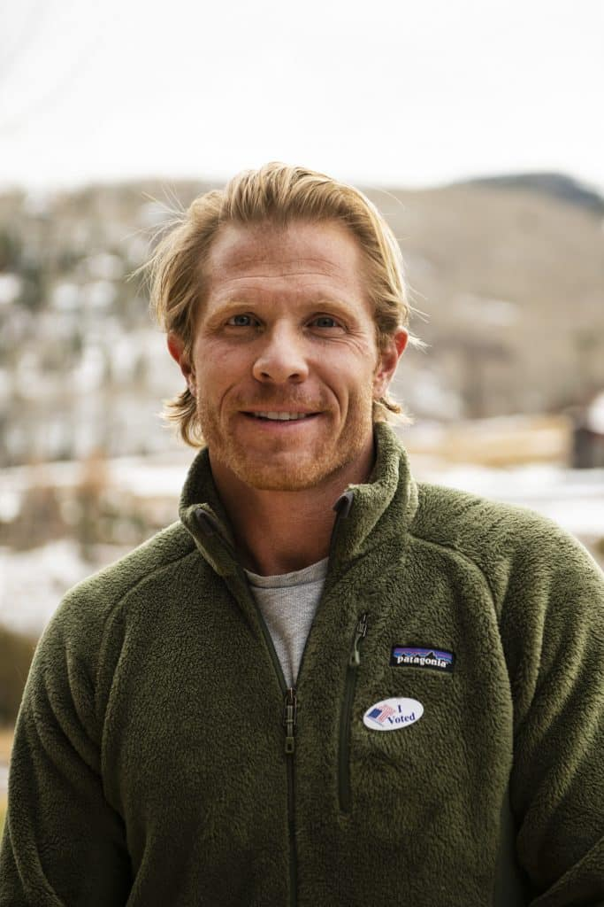 Matthew Tate after voting on Election Day in Snowmass on Tuesday, Nov. 3, 2020.