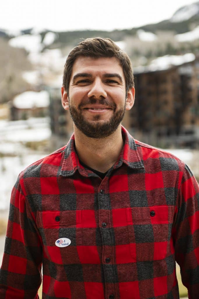 Vangel Yurukov after voting on Election Day in Snowmass on Tuesday, Nov. 3, 2020.