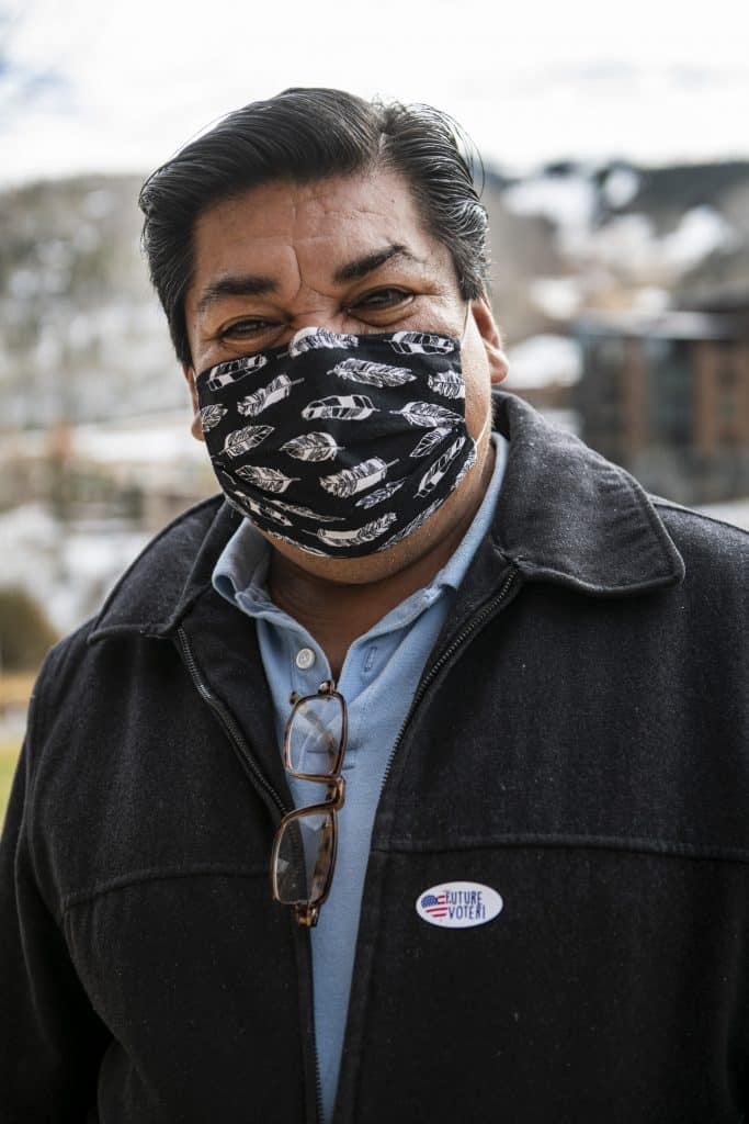Reyno Dolores after voting on Election Day in Snowmass on Tuesday, Nov. 3, 2020.