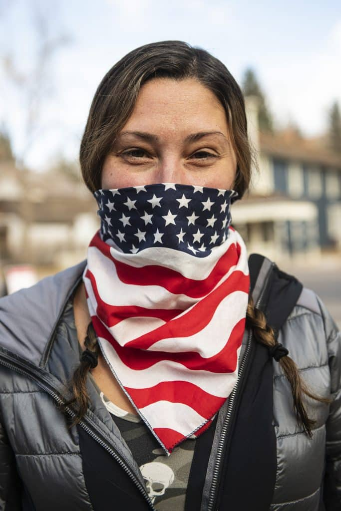 Rosalyn Pergande after voting on Election Day in Aspen on Tuesday, Nov. 3, 2020.