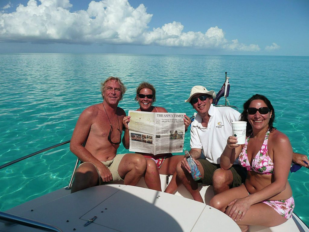 Couples Rob and Cindy Griem and Steve and Sandy Franklin took in offseason with The Aspen Times while aboard Grady White at Turks and Caicos Islands.