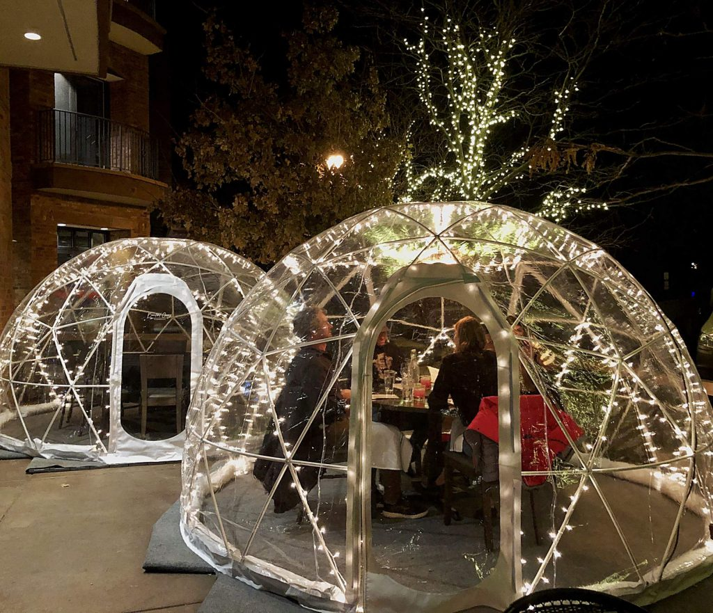 Free Range Kitchen in Basalt rented two igloos to continue to offer outdoor dining during the winter. Restaurants are facing a potential tough season and now the state is considering additional restrictions on capacity due to an increase in COVID cases.