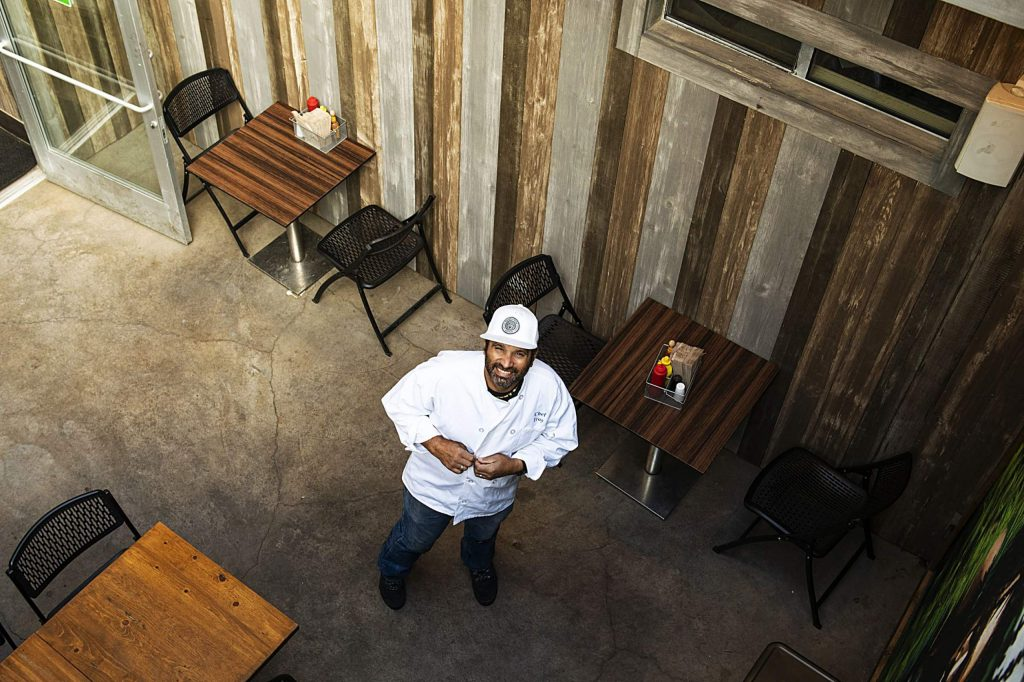 Silverpeak Grill chef Troy Selby stands in the outdoor space next to the restaurant in Aspen on Friday, Nov. 13, 2020. (Kelsey Brunner/The Aspen Times)