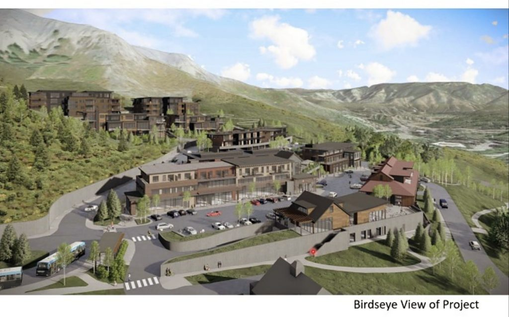 A birdseye view of the proposed Snowmass Center redevelopment project as presented to Town Council on Oct. 19, 2020.