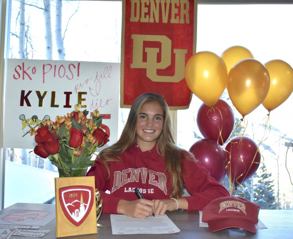 Aspen High School senior Kylie Kenny signed Wednesday, Nov. 11, 2020, to play collegiately in lacrosse for the University of Denver.