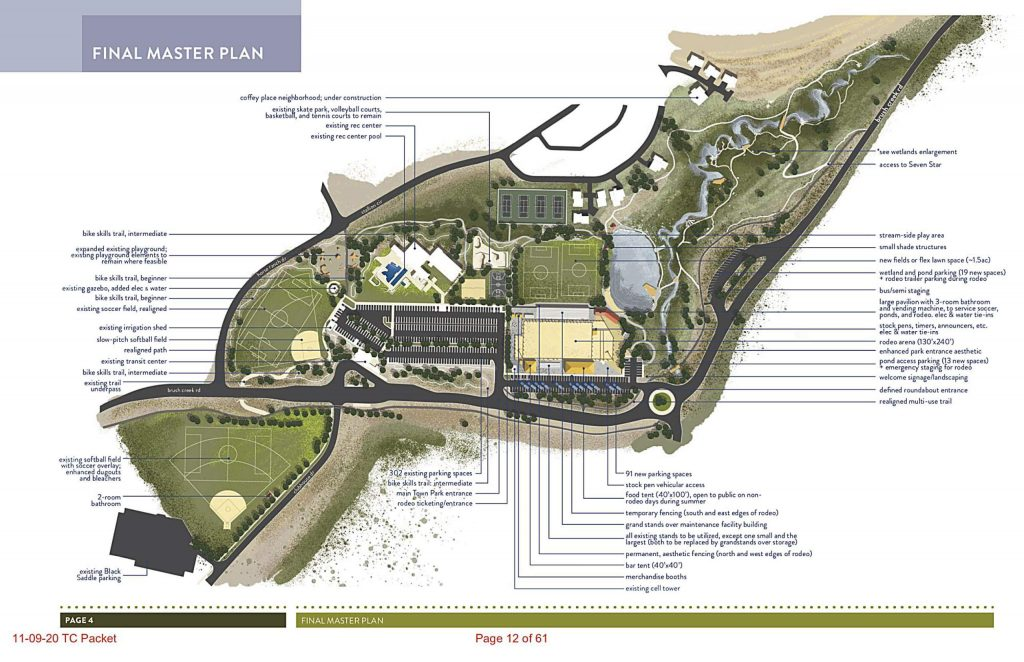 A rendering for the proposed redesign of Town Park in Snowmass Village.