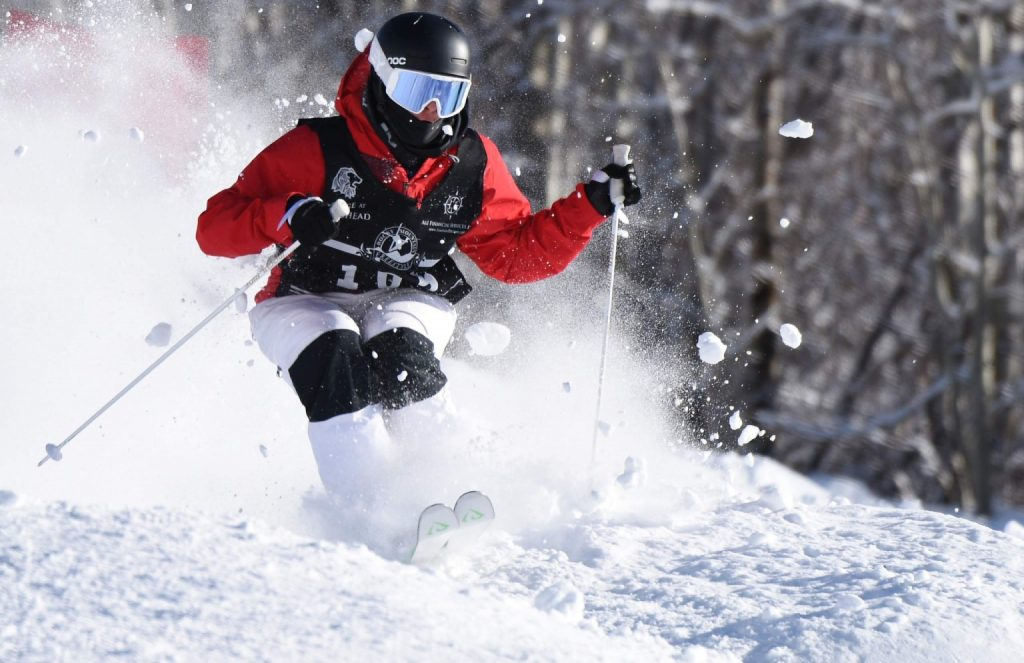 Steamboat Springs skier Landon Wendler competes earlier this winter at Steamboat Resort. Competing last weekend in Park City, Utah, he won the Junior Nationals moguls event. (File photo)