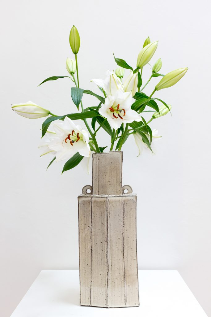 """Doug Casebeer, """"Faceted Vase #2,"""" 2020, Wood fired stoneware, 15.5"""