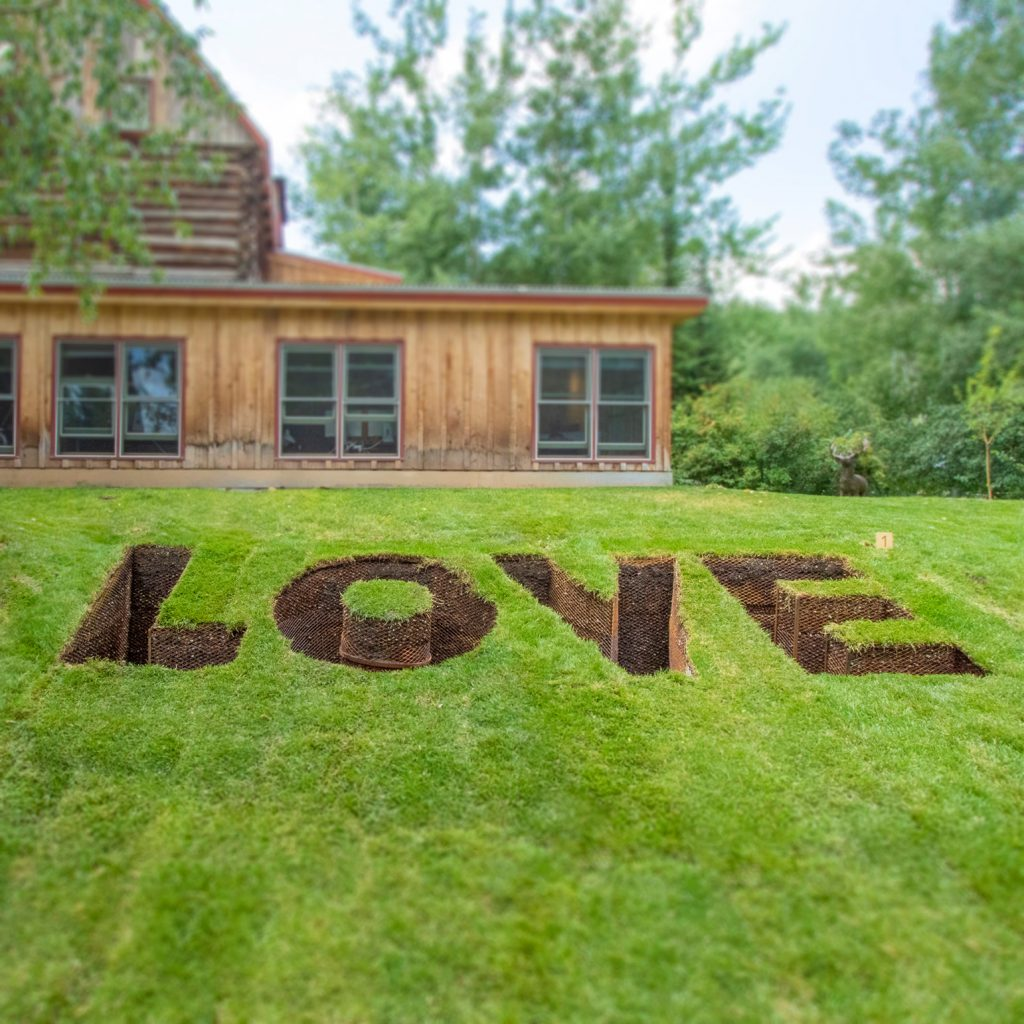 """""""Love Grave"""" by Ghada Amer, Courtesy of the artist and Marianne Boesky Gallery, New York and Aspen. Photo courtesy of Anderson Ranch Arts Center"""