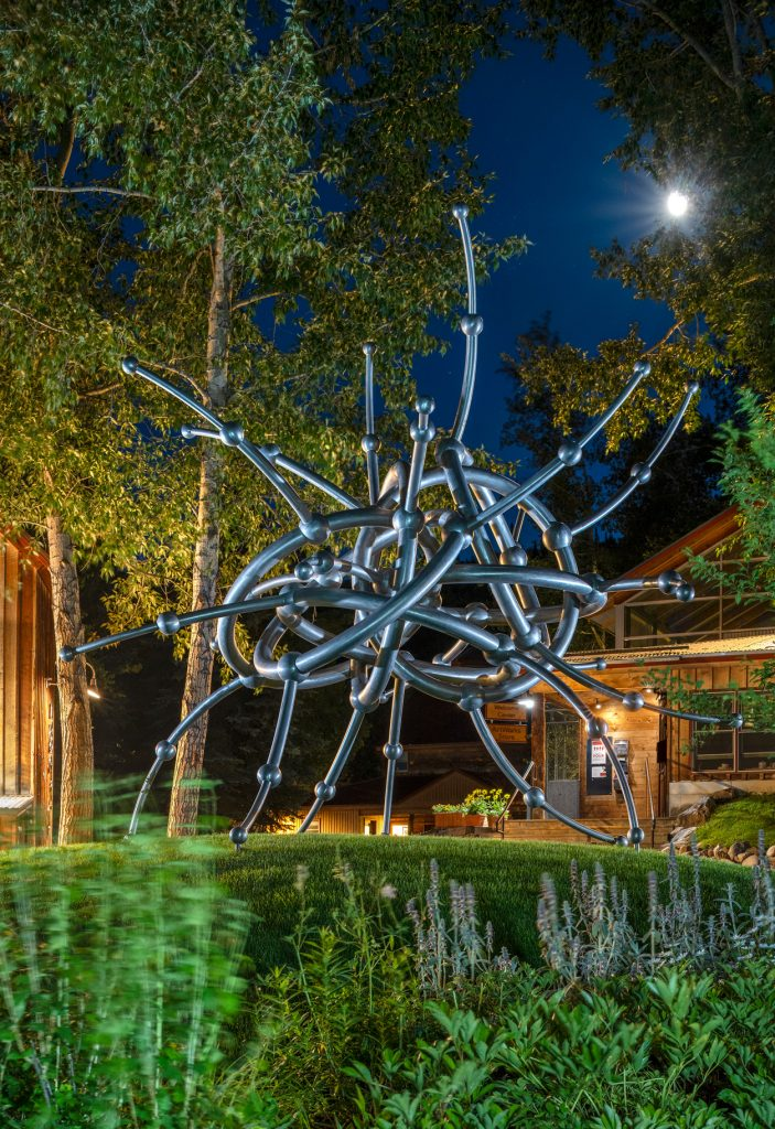 """""""Three Worlds, Seven Rings"""" by James Surls, part of the Anderson Ranch outdoor sculpture exhibition. Photo courtesy of Anderson Ranch Arts Center"""