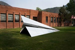 """""""Launch Intentions,"""" Sculpture by Griffin Loop on view at Red Brick Center for the Arts. Photo courtesy of Red Brick Center for the Arts"""